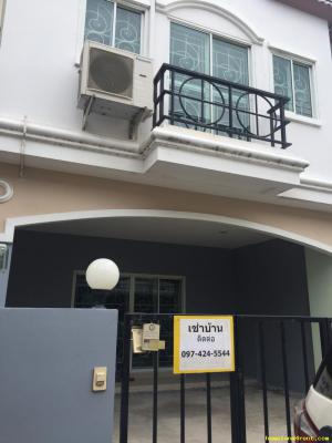 ให้เช่าบ้าน Townhome  3 ห้องนอน 2 ห้องน้ำ ติดถนน  6 เลน  ใกล้ชุมชน   นิคมTFD   Toyata บ้านโพธิ์    ต.ท่าสะอาด อ.บางปะกง จ.ฉะเชิงเทรา ต.แสนภูดาษ