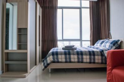 Condo for Rent The Sky Sukhumvit close to BTS Udom Suk Studio price 13500 THB per Month เดอะ สกาย สุขุมวิท คอนโดให้เช่า ใกล้บีทีเอส อุดมสุข ราคา 13500 บาท/เดือน